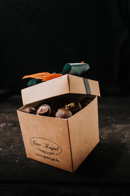 Doosje pure chocolade pralines 500 gr
